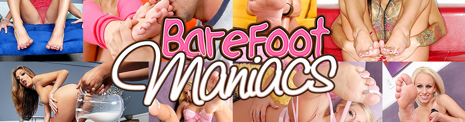 SEXY AMATEUR BABES AND PORNSTARS GIVE HOT AND STICKY FOOTJOBS @ BAREFOOT MANIACS